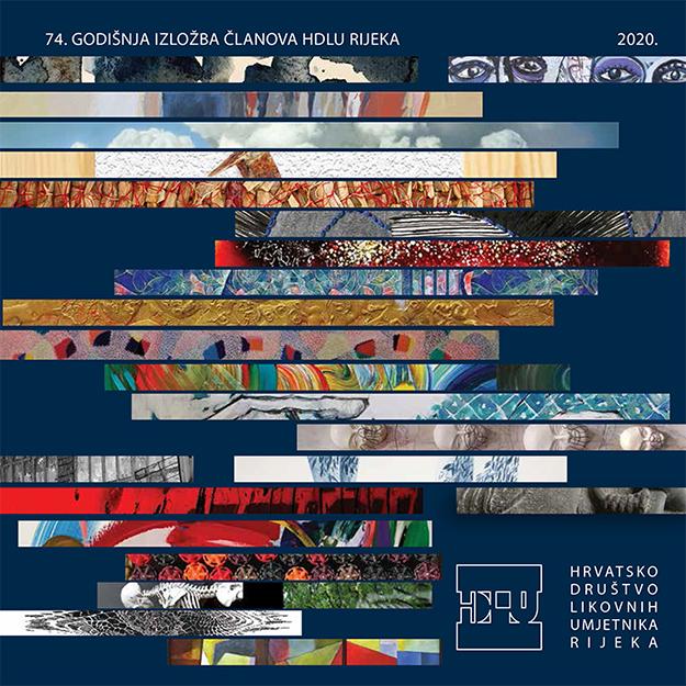 74. godišnja izložba članova HDLU-a Rijeka, naslovnica kataloga